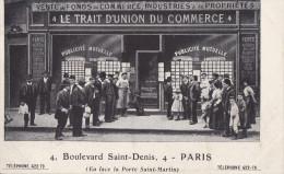 PARIS 3°  Bd St DENIS  PHOTO Devanture  LE TRAIT D´ UNION   Vente De FONDS De COMMERCE AFFICHES Publicité - Arrondissement: 03