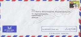 Iran Airmail Par Avion DR. C. ROWSHAN Trading House TEHERAN 1981 Cover Brief To Denmark Telephone Telefon Stamp - Iran