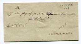 Preussen Faltbrief 1840 Poststelle Garnsee (Gardeja) Reg.Bez. Marienwerder - Preussen (Prussia)