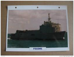 Fiche Technique Bateau / Transport De Chalands De Débarquement FOUDRE - Boten