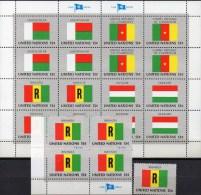 UNO 1980 Flagge Ruanda New York 362,4-Block+Kleinbogen ** 5€ Bloque Hoja Bloc M/s United Nation Flags Sheetlet Bf RWANDA - Rwanda