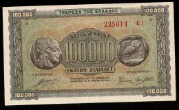 Drachmae 100.000/21.1.1944 GEM UNC! - Griechenland