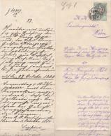 Österreich(V144)Gerichtbrief Von 1880Schreiben Vom K.K.Landesgericht An Gräfin Irma Königsegg-Aulendorf - Documenti Storici