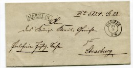 Preussen 1855 Danzig Nach Strasburg Pr. Portofreie Justic Sache - Preussen (Prussia)