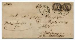 Preussen 1870 Danzig Nach Schliewitz  (Sliwice) Pr. Dienst Brief Mit NDP 2 X 1 Gr Doppelringstpl. - Preussen (Prussia)