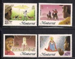 Montserrat    Christmas 1985    Set  SC# 588-91 MNH** - Montserrat