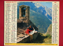 CALENDRIER 1977 NOTRE DAME DU BON SECOURS  IMPRIMEUR OBERTHUR CALENDRIER DOUBLE - Big : 1971-80