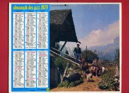 CALENDRIER 1979 NEVACHE HAUTES ALPES CLELLES EN TRIERES ISERE IMPRIMEUR OBERTHUR CALENDRIER DOUBLE - Big : 1971-80