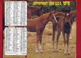 CALENDRIER 1979 POULAIN CHEVAL IMPRIMEUR OBERTHUR CALENDRIER DOUBLE - Big : 1971-80