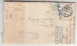 POLAND / GERMAN ANNEXATION 1896  LETTER  SENT FROM  POZNAN TO POZNAN - ....-1919 Übergangsregierung