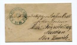 1871 KDP Feldpost Relais No.10 Hilsfspostanstalt, Klein Format 85x50 Mm Nach Mittelschreibersdorf (Pisarzowice Srednie) - Non Classificati