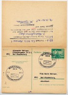 ALTER STEMPEL MEERANE 1983 Auf DDR P81 Postkarte Mit Antwort - Post