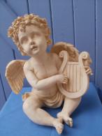 ANGE ANGELOT En Résine, Joueur De Luth, Hauteur 25 Cm - Autres