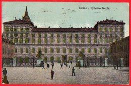 [DC6482] TORINO - PALAZZO REALE - Viaggiata 1917 - Old Postcard - Palazzo Reale