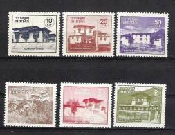 BHUTAN 1984 Monasteries, Dzongs,  Scott 495/500, 6v  Complete Set, MNH(**). - Boeddhisme