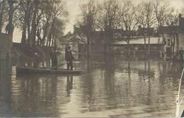 Carte Photo - Inondations Sans Doute Auxonne En Côte D'Or - Inondations