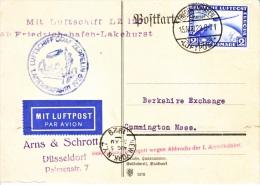 Germany First Flight   INTERRUPTED  FLIGHT   GRAF ZEPPELIN   Z 127 - Airmail