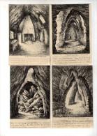 Cp , 49 , DOUE LA FONTAINE , Vierges , Ed : Thiriat , LOT DE 4 CARTES POSTALES - Doue La Fontaine