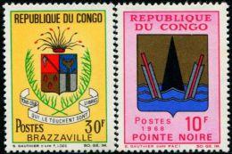 FB0066 Congo 1968 City Emblem 2v MLH - Congo - Brazzaville