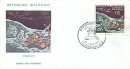 MADAGASCAR 1973  Apollo XVII  Mission Sur La Lune FDC Poste Aérienne - Madagaskar (1960-...)