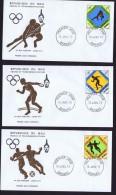 MALI  1973  Jeux Africains  Javelot, Disque, Football FDC - Mali (1959-...)