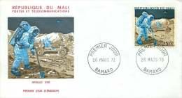 MALI  1973  Apollo  XVII  Espace  FDC   Poste Aérienne - Mali (1959-...)