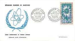 MAURITANIE  1967  Agence Internationale De 'Énergie Atomique  FDC Poste Aérienne - Mauritanie (1960-...)