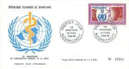MAURITANIE  1968   20è Ann Organisation Mondiale De La Santé  FDC Poste Aérienne - Mauritania (1960-...)