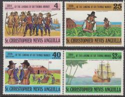 St KITTS, 1973 SIR THOMAS WARNER 4 MH - St.Christopher, Nevis En Anguilla (...-1980)