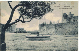 AMELIA:  PIAZZALE  XXI  SETTEMBRE  1860  E  MURA  PELASGICHE  -  PER  LA  CECOSLOVACCHIA  -  FP - Terni
