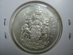 CANADA  HALF DOLLAR 50 CENTS SILVER  COIN 1963 NICE GRADE - Canada
