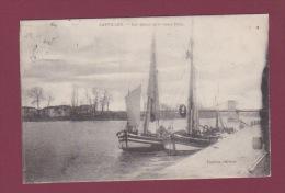 33 - 050414 - CASTILLON - Les Quais Et Le Vieux Pont - Voilier - Autres Communes
