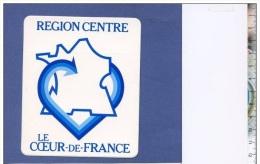 Autocollant - Région Centre - Le Coeur De La France - Publicité Sticker - Stickers