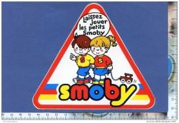 Autocollant - SMOBY - Jouet - Enfant - Train En Bois - Triangle Signalisation Routière - Sticker - Autocollants