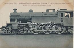 VIERZYLINDER 2 C 2 - HEIBDAMPFTENDERLOKOMOTIVE, GATTUNG 13 DER BELGISCHEN STAATSBAHN - ERBAUT 1913 VON SOCIETE METALLURG - Trains