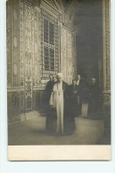 CARTE PHOTO : Le Pape PIE X Au Vatican. 2 Scans. - Vatican
