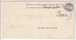 POLAND / GERMAN ANNEXATION 1900  LETTER  SENT FROM  MIEDZYRZECZ  TO  POZNAN - ....-1919 Übergangsregierung