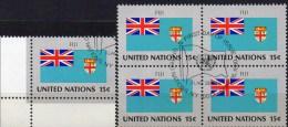 UNO Flagge Fidschi-Inseln 1980 New York 350+4-Block Aus Kleinbogen O 2€ Bloque Hoja Bloc United State Flag Sheet Bf FIJI - Fidji (1970-...)