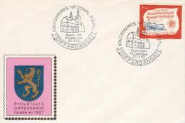 Lussemburgo1962 - Differdange  Congresso Nazionale FSPL Annullo Su Busta - Marcophilie - EMA (Empreintes Machines)