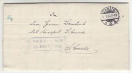 POLAND / GERMAN ANNEXATION 1904   LETTER  SENT FROM  GDANSK  TO  SWIECIE - ....-1919 Übergangsregierung