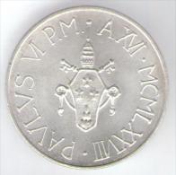 VATICANO 500 LIRE 1978 AG SILVER - Vaticano