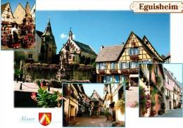 EGUISHEIM : Place St Léon - Les Remparts - Vieux Pigeonnier - Maisons Fleuries - France