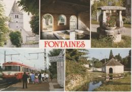 FONTAINES : Lavoir De La Treille - Un Puits Communal - L'Eglise - Lavoir St Nicolas - Gare Fontaines Mercurey - Sonstige Gemeinden
