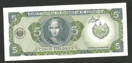 [NC] EL SALVADOR - El BANCO CENTRAL De RESERVA De El SALVADOR - 5 COLONES (1990) - El Salvador