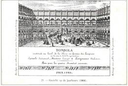 TOMBOLA  Loterijtikket ,prachtige Litho, Uit Oude Plakboek, Gekleefd - Billets De Loterie
