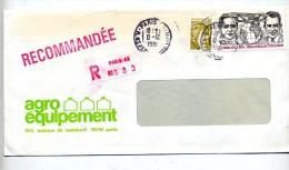 Lettre Recommande Paris Sur Costes - Cachets Manuels