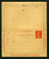 FRANCE  :   CARTE-LETTRE  NEUVE   Y&T  194  CL1   40 CTS ,    A   VOIR . - Cartoline-lettere