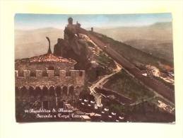 REPUBBLICA S. MARINO SECONDA E TERZA TORRE VIAGGIATA -XX- - San Marino