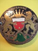 """Plaque De Calandre D´Automobile/Type """" Automobile Club""""/LAUSANNE/Suisse/ Vers 1920-1940  AC86 - Transports"""
