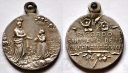 MED 91 - ANTICA MEDAGLIA  - RICORDO DEL SANTUARIO DI CARAVAGGIO  - DIAMETRO Mm. 19 - Religión & Esoterismo